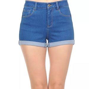 Pants - WAX BUTT I LOVE YOU! Blue Shorts Size L